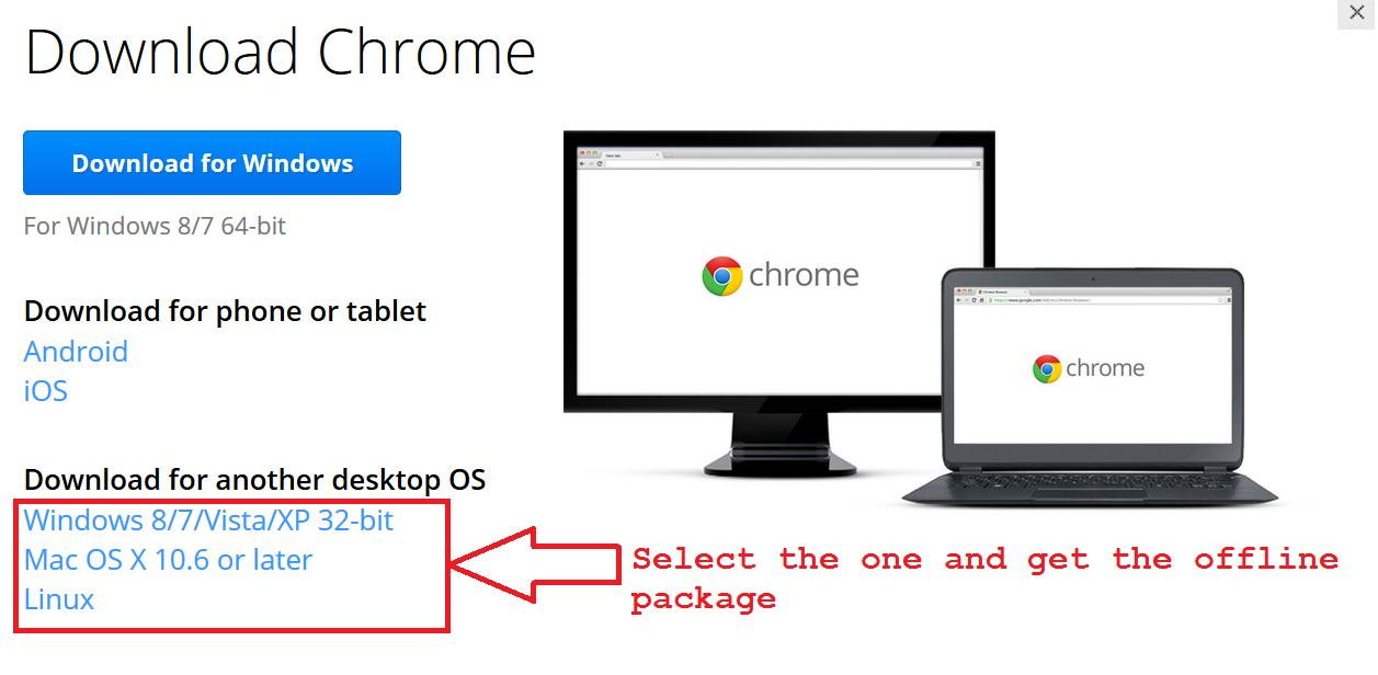 Select your package file according to your Operating System