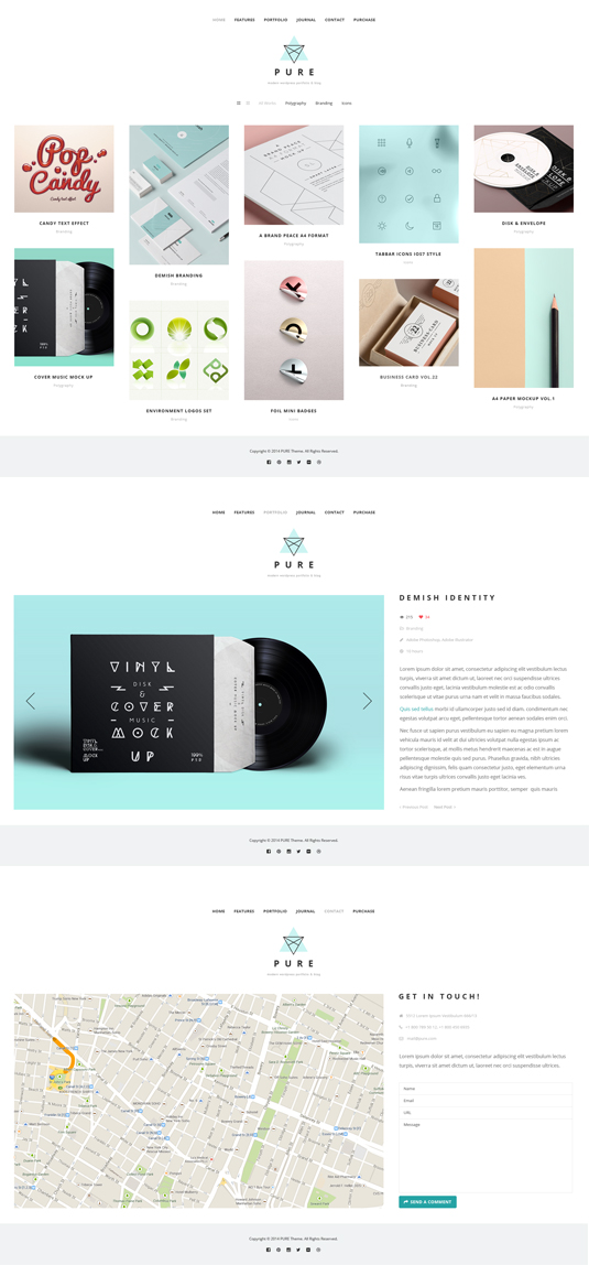 Pure Free Portfolio WordPress Theme To Try Out - TECHWIBE