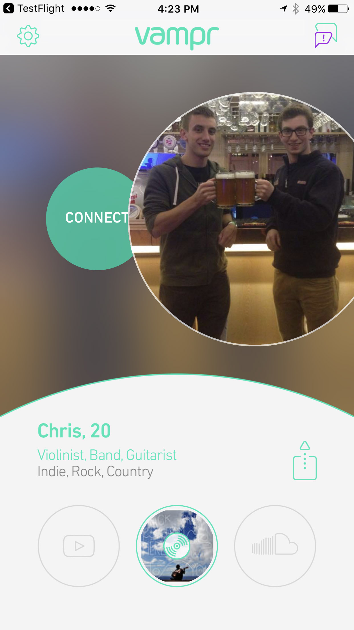 swipe to connect