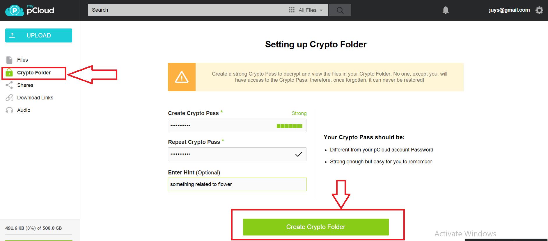 crypto folder