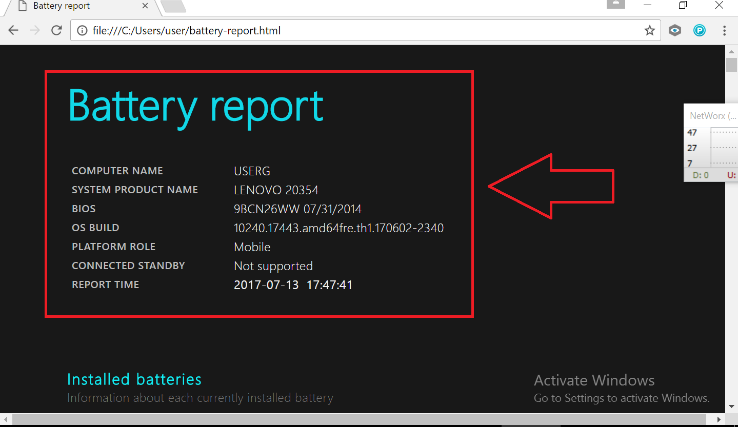 detailed report page