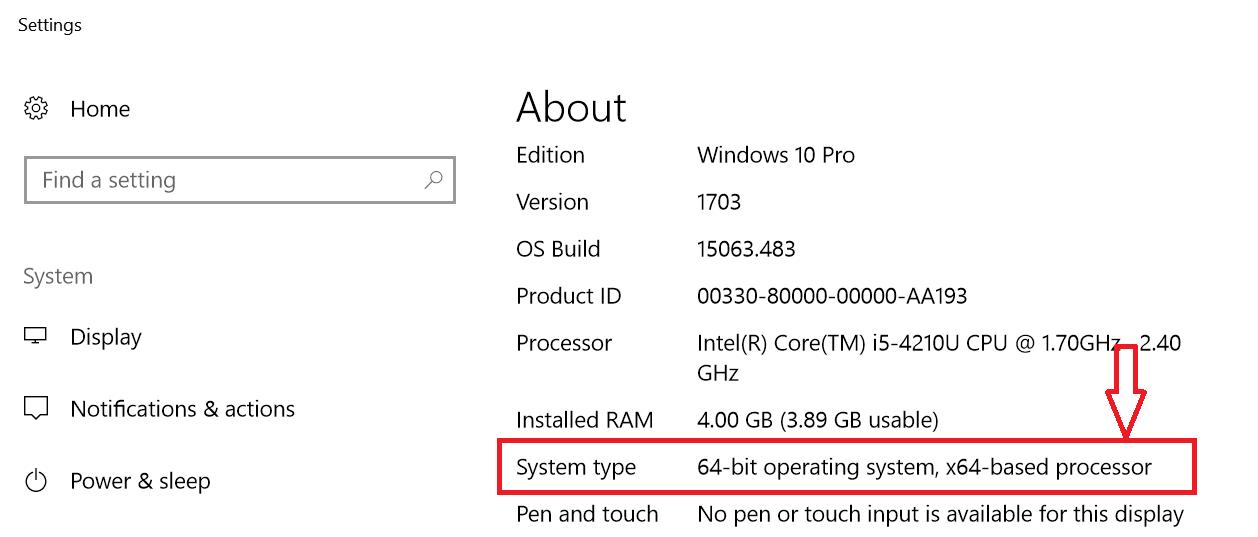 64 bit system
